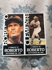 "1992 Pittsburgh Brewing Company ""A Tribute To"" Roberto Clemente Pirates Rare"