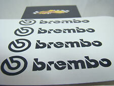 SET OF 2x 90mm and 2x 75mm BREMBO BLACK BRAKE CALIPER DECALS STICKERS HIGH TEMP