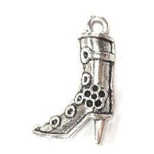 10 Pcs shoe Boots Tibetan Silver Large Alloy Charm Pendants - A0541-A