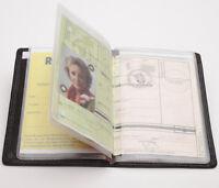 Leder EC-Karten-+Ausweis-Etui Schwarz RFID schön flach! AUCH Behindertenausweis!