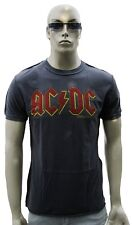 Amplified AC/DC ACDC Scritta Logo Rock Star Vintage VIP culto WOW T-shirt G.S