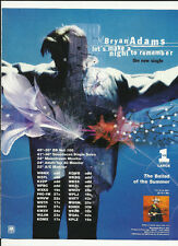 Bryan Adams Let's Make a Night Trade Ad Poster For 18 til I die 1996 Cd Mint