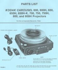 KODAK CAROUSEL Parts list 600 650 700 750 800 FREE SHIP