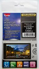 Kenko LCD Monitor Protection Film - Canon S95 Powershot Camera Screen Protector