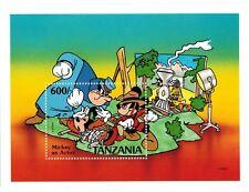 Tanzania - Disney, Mickey as Actor - Souvenir Sheet MNH