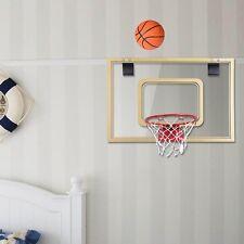 Mini Basketball Hoop Over-The-Door/Wall Indoor Outdoor w/ Ball Pump for Kids XL