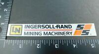 """Ingersoll Rand Mining Machinery"" Coal Miner Mining Hard Hat Decal Sticker VTG"