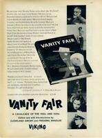 1960 Vanity Fair PRINT AD Cavalcade of the 1920s and 1930s