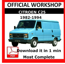 >> OFFICIAL WORKSHOP Manual Service Repair Citroen C25 1982 - 1994