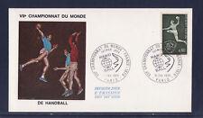 enveloppe 1er jour hand ball championnat du monde  Paris   1970