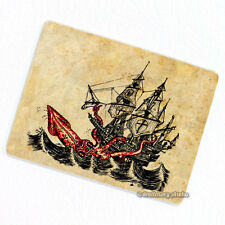 Attack of Kraken Deco Magnet, Decorative Fridge Antique Illustration Monster