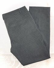 Adrienne Vittadini Gray Pinstripe Career Pants Size 10