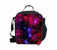 Galaxy Thermal Insulated Lunch Bag Box Container School Kids Lunchboxes Cooler