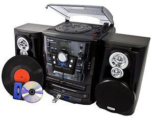 Karcher KA 350 Stereoanlage HiFi Plattenspieler CD Wechsler USB MP3 Kassette SD