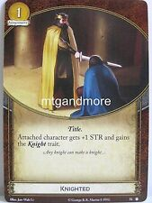 A Game of Thrones 2.0 LCG - 1x knighted #058 - The King's Peace-Second Editio