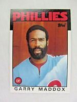 Garry Maddox Philadelphia Phillies 1986 Topps Baseball Card Number 585