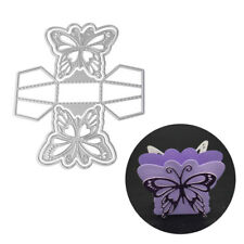 Exquisite 3D Butterfly Candy Gift Box Cutting Die Embossing Stencil Decor Sanwo