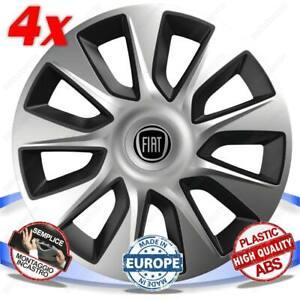 Set 4 Boulons Roue Enjoliveurs Stratos Bicolor 16 Pouce Compatible Fiat