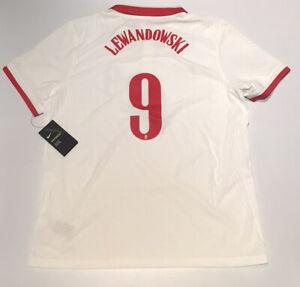 Poland Home Jersey Vaporknit Nike White 2020 Lewandowski #10 XL NWT