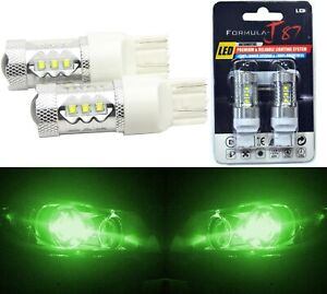 LED Light 80W 7440 Green Two Bulbs Front Turn Signal Replacement OE Show