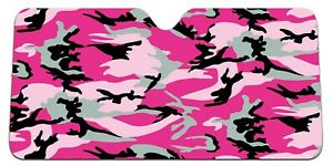 camo pink design car sun shade, CHOOSE YOUR SIZE !!!!  130x60, 145x70 or 150x80