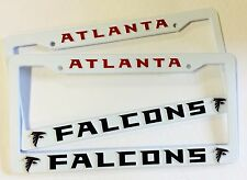 2 FALCONS License Plate Frame NEW Auto Truck FREE SHIPPING Atlanta Falcons