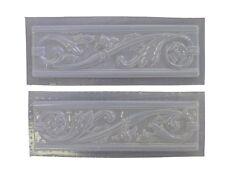 Roman Swirl Floral Tile Trim Set of 2 Concrete Plaster Molds 6028 Moldcreations