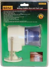 Wireless OUTDOOR SIREN HORN HomeSafe Security System Stand Alone Strobe Alarm