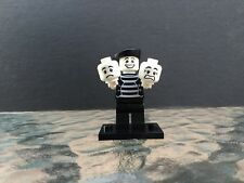 LEGO Minifigures Series 2 (8684) Mime Actor Complete Minifig CMF Genuine