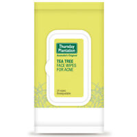 THURSDAY PLANTATION TEA TREE FACE WIPES FOR ACNE 25 WIPES PREVENT BREAKOUTS