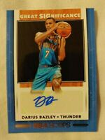 DARIUS BAZLEY NBA HOOPS 2019-20 GREAT SIGNIFICANCE AUTO THUNDER