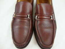 VTG Florsheim Riva 10 B Burgundy Leather Slip On Loafer Shoes Dress Casual Mens