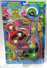 New Sealed Teenage Mutant Ninja Turtles Mini Mutants Raphaels Baseball Set 1989