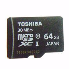 64GB Toshiba Micro SDXC MicroSDHC Class 10 SD Memory Card 30MB/S Made in Japan