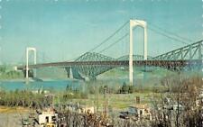 QUEBEC, Canada  LE PONT PIERRE LAPORTE~Bridge Texaco Gas~Imperial Trailer Park