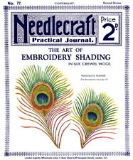 Needlecraft Practical Journal #77 c.1907 Art of Embroidery Shading