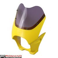 Headlight Screen Fairing Front Windshield Universal Fit Cafe Racer Drag Racing