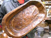 Wooden Farmhouse Dough Bowl 2094