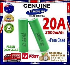 Samsung INR18650 25R  2500mAh - High Current 20 Amp Battery GENUINE