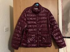c6a9556eb70d0 NEW PACK AWAY DOWN FILLED MAROON JACKET COAT UK 8