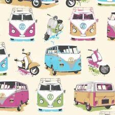Muriva VW VOLKSWAGEN Camper Vans & Scooters Wallpaper J05901 - Sample