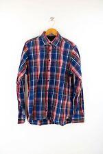 Tommy Hilfiger Custom Fit Herren Hemd Gr. S Langarm Karo Shirt Blau / Rot