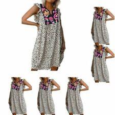 V-Neck Floral Shirt Dresses