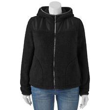 NEW Hooded Fleece Jacket Hoodie 1X Full Zip 2 Pocket So for Kohl's Retail $48