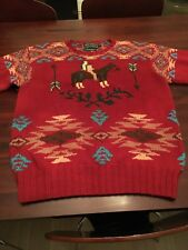 Vintage Ralph Lauren Country Sweater Size: Lady Small Hand Knit Horse