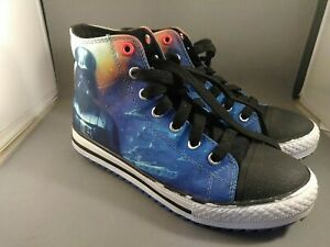 Star Wars Skechers Youth Boy Size 3 High top Sneakers Come to Dark Side Shoes