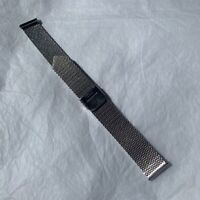 1970s Watch Strap Mesh Stainless Steel 1980s Vintage Hong Kong