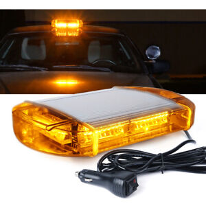 Xprite 40 LED Strobe Light Rooftop Magnet Emergency Hazard Warning Amber Beacon