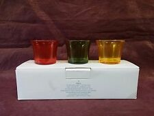Partylite Outdoor Cafe Votive Trio   YELLOW GREEN RED