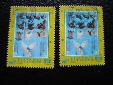 VATICAN - timbre yvert et tellier n° 1017 x2 obl (A28) stamp (I)